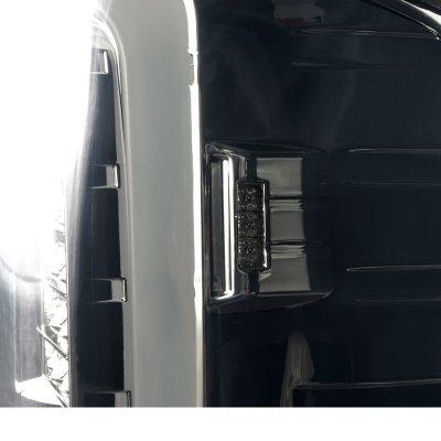 GMC Sierra 3500HD 2015-2018 Smoked LED Tail Lights