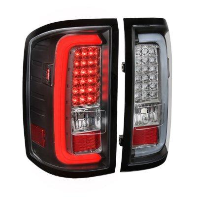 GMC Sierra 2500HD 2015-2018 Black LED Tail Lights