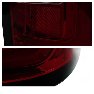 GMC Sierra 2014-2018 Red Smoked LED Tail Lights