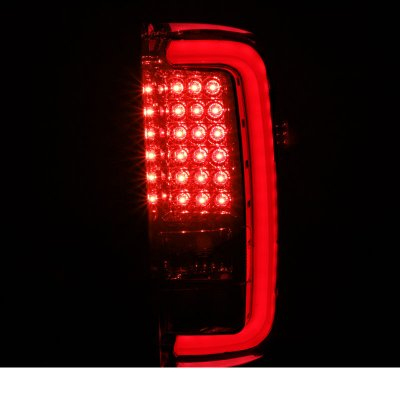 GMC Sierra 3500HD 2015-2018 Red Smoked LED Tail Lights