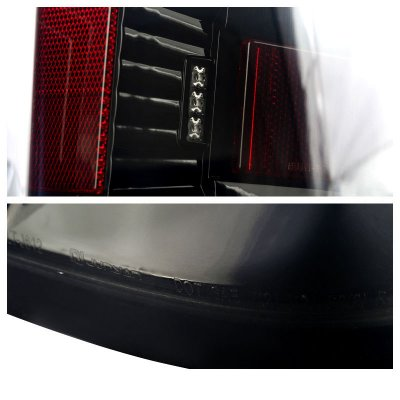 Chevy Silverado 2014-2017 Black Smoked LED Tail Lights