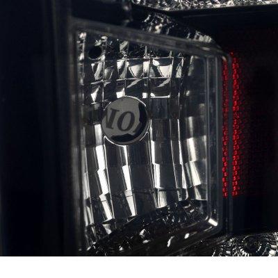 Chevy Silverado 2500HD 2015-2017 Black Smoked LED Tail Lights