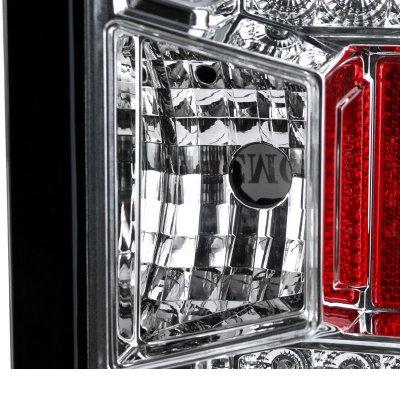 Chevy Silverado 2500HD 2015-2019 Clear LED Tail Lights
