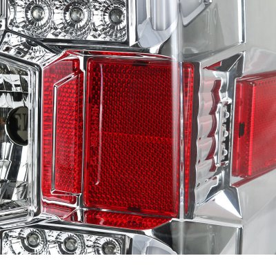 Chevy Silverado 2500HD 2015-2019 Clear LED Tail Lights
