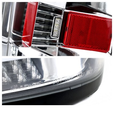 Chevy Silverado 2500HD 2015-2017 Clear LED Tail Lights
