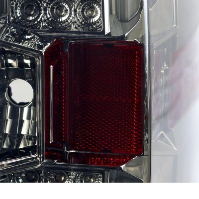 Chevy Silverado 1500 2014-2017 Smoked LED Tail Lights