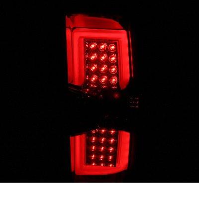 Chevy Silverado 2500HD 2015-2017 Smoked LED Tail Lights
