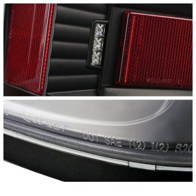 Chevy Silverado 2500HD 2015-2017 Black LED Tail Lights