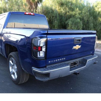 Chevy Silverado 2500HD 2015-2017 Black LED Tail Lights