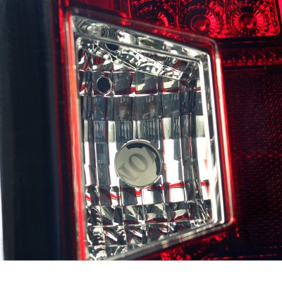 Chevy Silverado 2500HD 2015-2017 Red Smoked LED Tail Lights