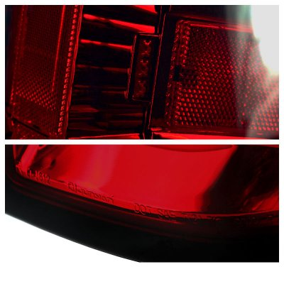 Chevy Silverado 2017 Red Smoked Led Tail Lights