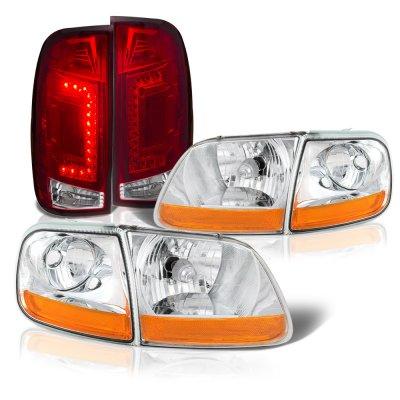Ford F150 1997-2003 Clear HD Headlights Custom LED Tail Lights