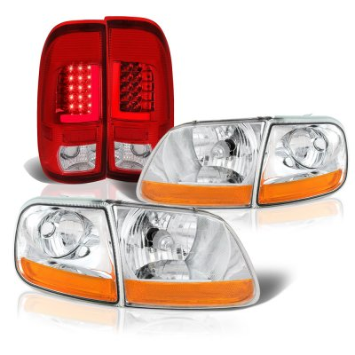 Ford F150 1997-2003 Clear HD Headlights and Tube LED Tail Lights