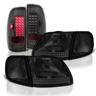 Ford F150 1997-2003 Smoked Headlights LED Tail Lights