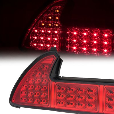 Acura NSX 1991-2005 Red and Clear LED Tail Lights