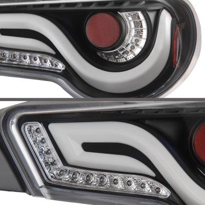 Subaru BRZ 2013-2020 Black Tube LED Tail Lights