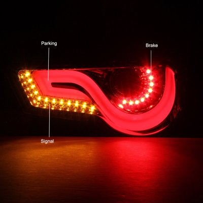 Subaru BRZ 2013-2020 Clear Tube LED Tail Lights