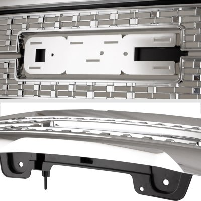 GMC Sierra 1500 2016-2018 Chrome Denali Style Grille