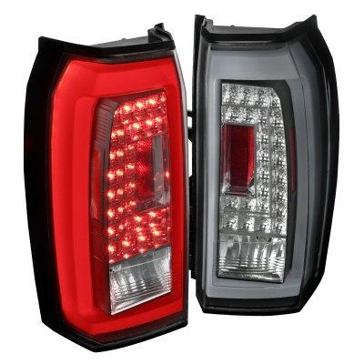 Chevy Suburban 2015-2017 Black LED Tail Lights