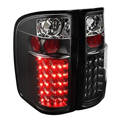 Chevy Silverado 2500HD 2007-2014 Black LED Tail Lights