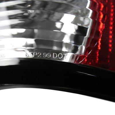GMC Sierra 2500 1999-2003 Black Altezza Tail Lights