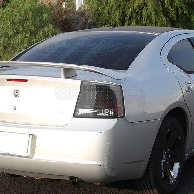 Dodge Charger Tail Lights >> Dodge Charger 2006 2008 Black Led Tail Lights A122tbqr109