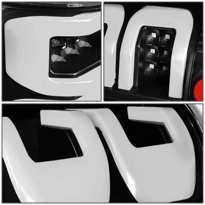 Ford F150 2004-2008 Black Custom Tube LED Tail Lights