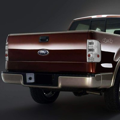 Ford F150 2004-2008 Clear Custom Tube LED Tail Lights