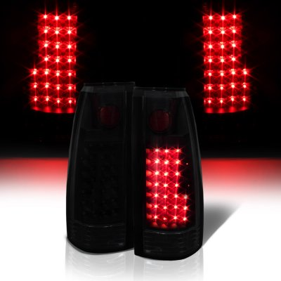 Chevy Tahoe 1995-1999 Black Smoked LED Tail Lights