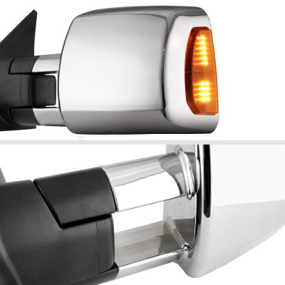 Toyota Tundra 2007-2021 Chrome Towing Mirrors Power Heated LED Signal Lights