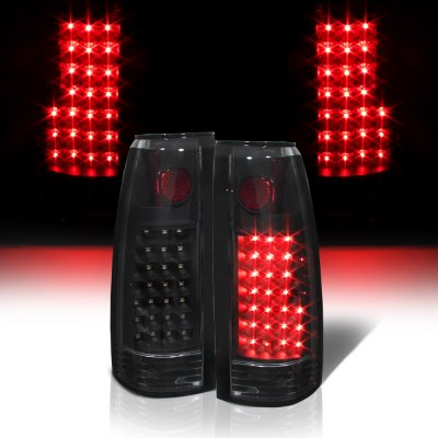 Chevy Silverado 1988-1998 LED Tail Lights Black