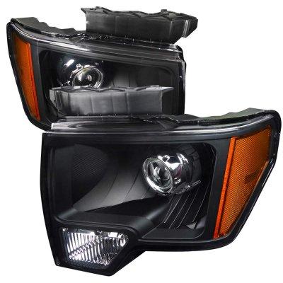 Ford F150 2009-2014 Black Retrofit Projector Headlights
