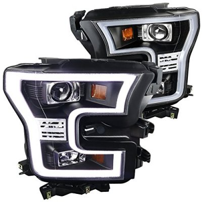Ford F150 2015-2017 Black Projector Headlights LED DRL