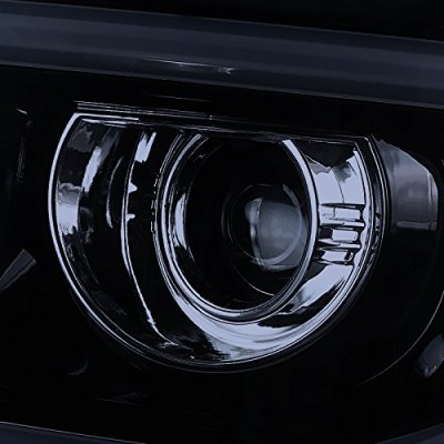 GMC Sierra 1500 2014-2015 Smoked LED Tube DRL Projector Headlights