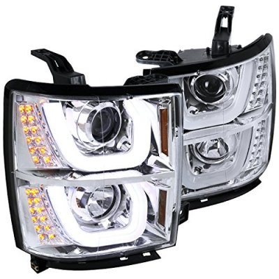 Chevy Silverado 2014-2015 DRL Projector Headlights LED Signal