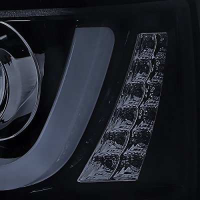 Chevy Silverado 2014-2015 Smoked DRL Projector Headlights LED Signal