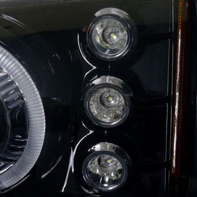 Chevy Silverado 2003-2006 Smoked Projector Headlights