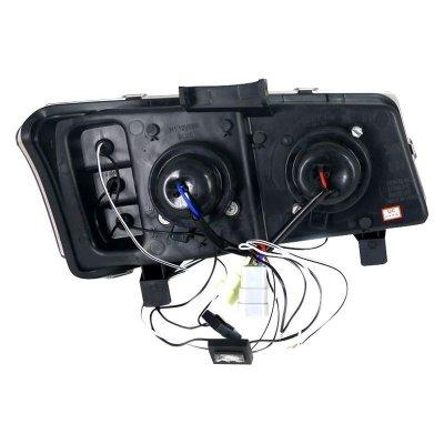 Chevy Silverado 2500 2003-2004 Smoked Halo Projector Headlights with LED
