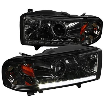 Dodge Ram 2500 1994-2002 Smoked Retrofit Projector Headlights LED DRL