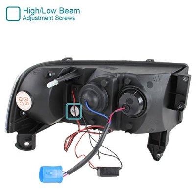 Dodge Ram 1994-2001 Black Retrofit Projector Headlights LED DRL