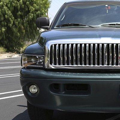 Dodge Ram 2500 1994-2002 Black Retrofit Projector Headlights LED DRL