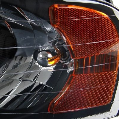 Dodge Ram 2002-2005 Black Retrofit Projector Headlights