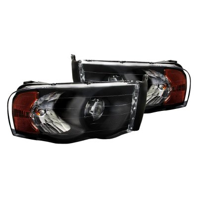 Dodge Ram 2500 2003-2005 Black Retrofit Projector Headlights