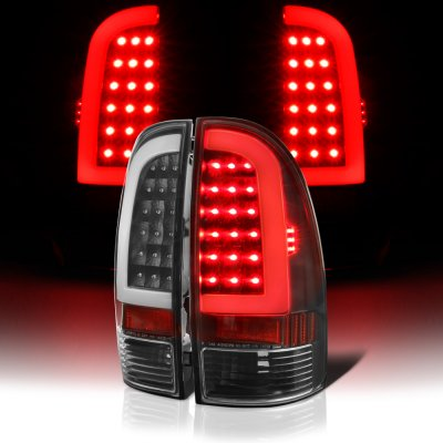 Toyota Tacoma 2005-2010 Black LED Tube LED Tail Lights
