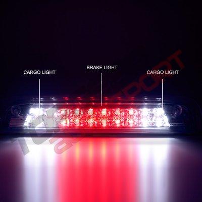 Chevy Silverado 2500HD 2015-2017 Clear Full LED Third Brake Light Cargo Light