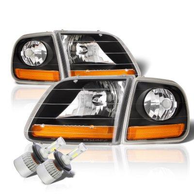 Ford F150 1997-2003 Black Harley LED Headlights Kit