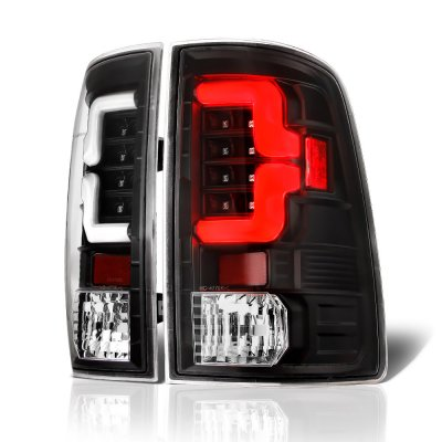 Dodge Ram 3500 2010-2018 Black Custom LED Tail Lights