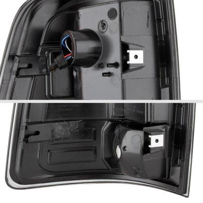 Dodge Ram 2500 2010-2018 Black Custom LED Tail Lights