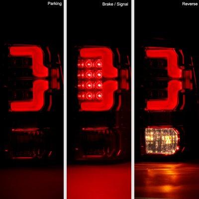 Dodge Ram 3500 2010-2018 Smoked Custom LED Tail Lights