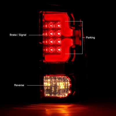 Dodge Ram 2500 2010-2018 Custom LED Tail Lights